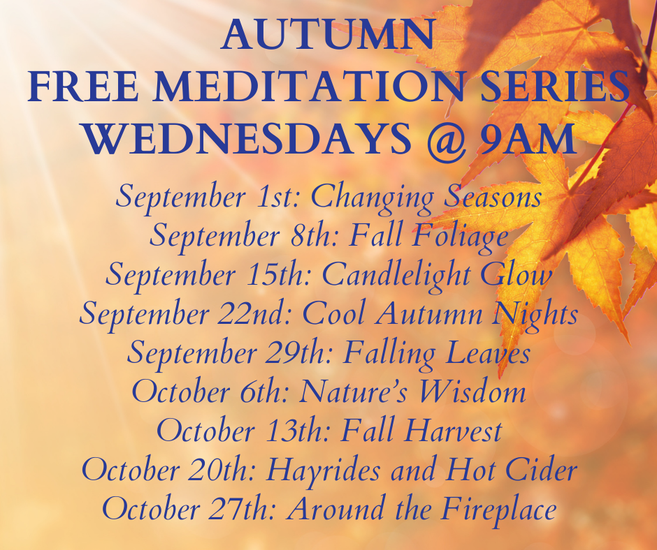 Autumn Webinar Meditation Series